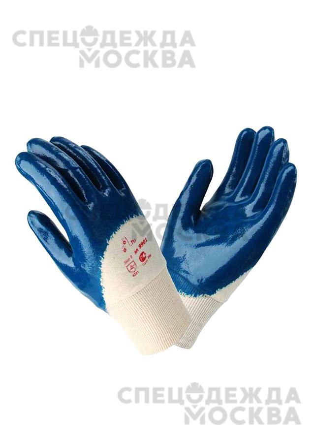 Перчатки нитриловые полуобливные