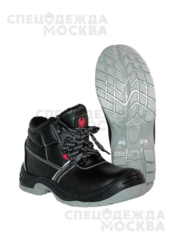 Ботинки юфтевые (искусственный мех) ПУ/ТПУ Скорпион