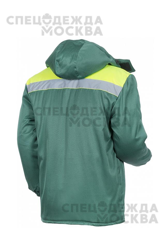 Куртка зимняя Эксперт-ЛЮКС удлиненная, зеленый/лимонный
