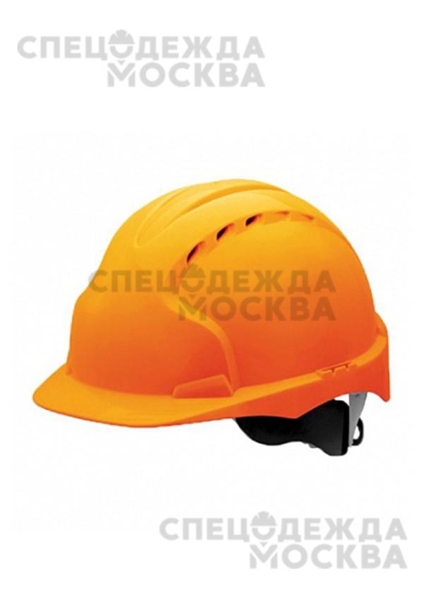 Каска строительная с храповиком, оранжевый