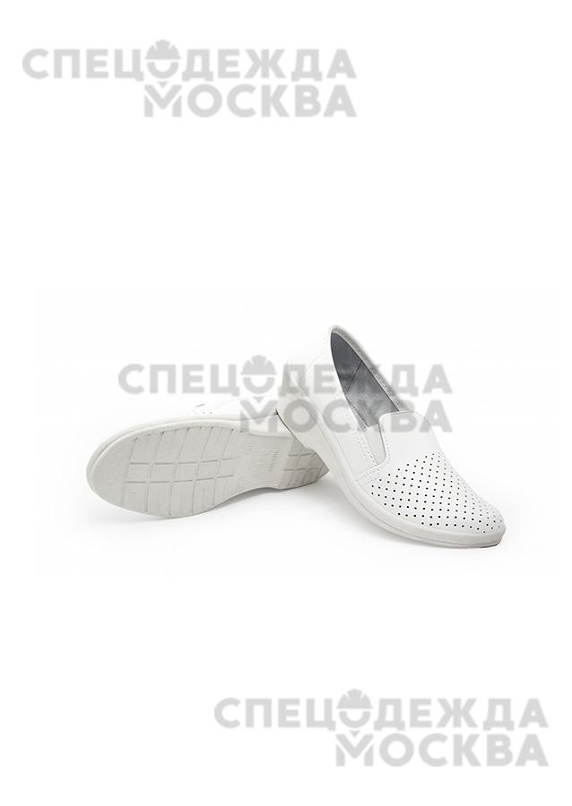 Туфли женские ПУ (натуральная кожа с перфорацией)