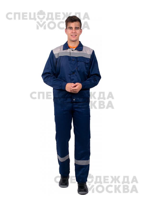 Костюм Труженик-2 СОП (тк.Смесовая,210) п/к, т.синий/серый