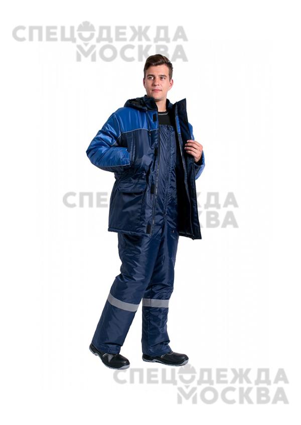 Костюм зимний Балтика NEW (п/к), т.синий/васильковый