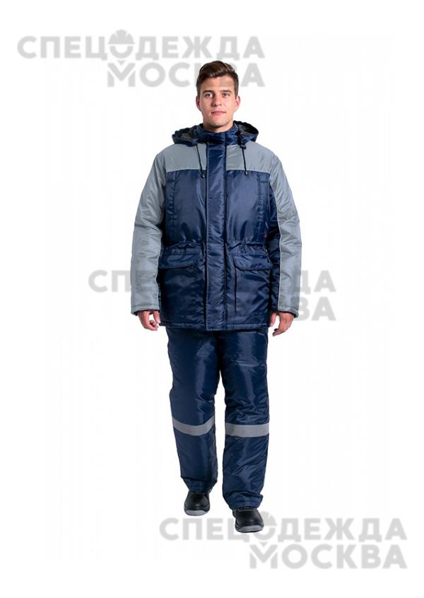 Костюм зимний Балтика NEW (п/к), т.синий/серый