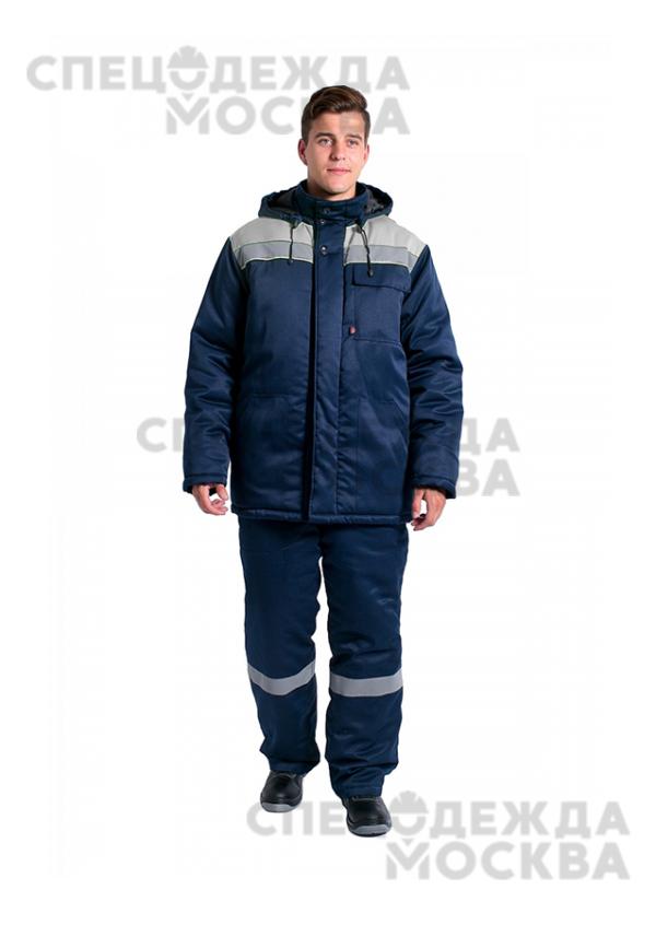 Куртка зимняя Эксперт-ЛЮКС NEW, т.синий/серый